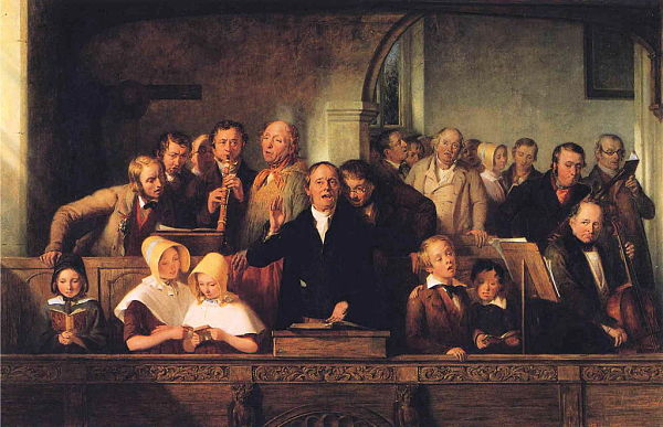 Thomas Webster painting The Village Choir