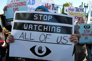 Stop watching me protest