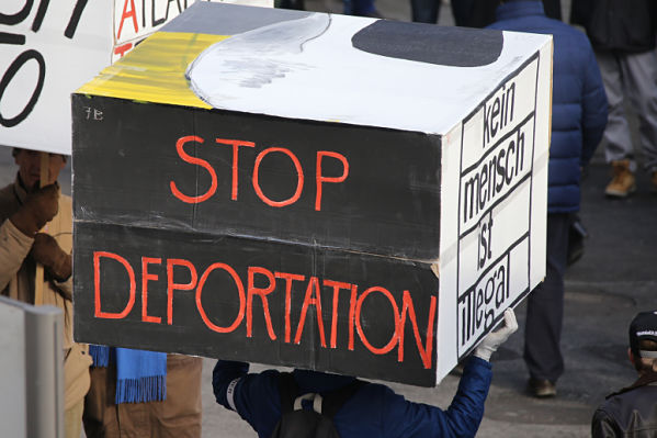Anti-deportation demonstrator
