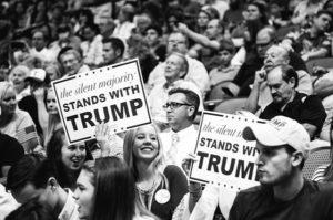 Trump partisans B&W