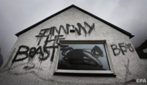 Graffiti on Jimmy Savile's cottage