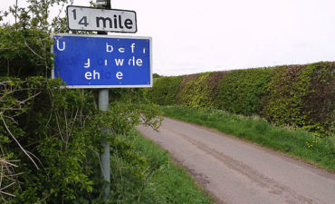 "Sign: ""Ubefyrwdeehe"""