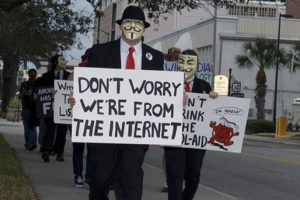 Anonymous marcher