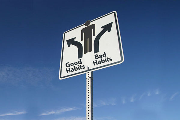 good habits road sign