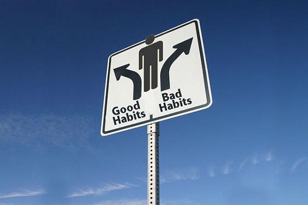good habits road sign