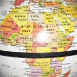 African on globe