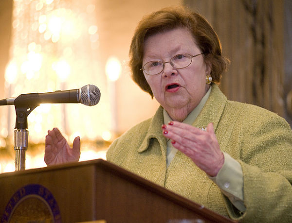 Senator Barbara Mikulski (Photo: NASA/Goddard Space Flight Center/Bill Hrybyk)