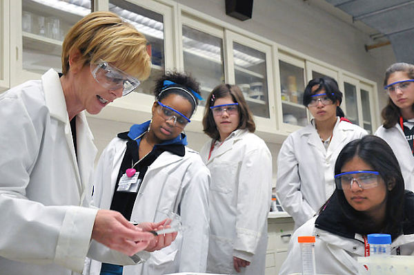 Women students at Argonne lab