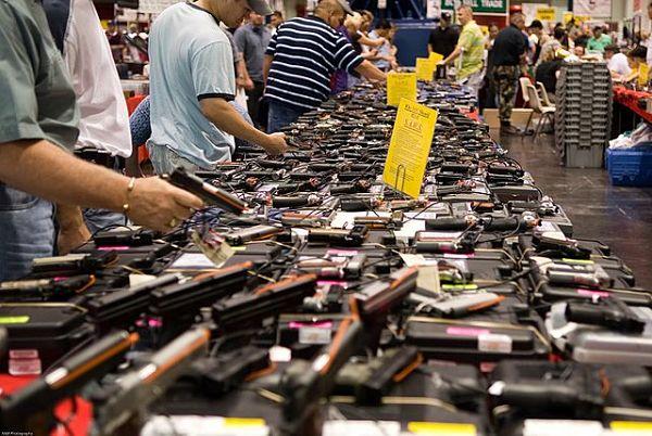 Guns at gun show