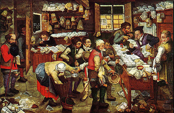 """Although it may not always feel that way, paying taxes is a much less encumbering process than when Pieter Brueghel the Younger painted his """"Paying The Tax (The_Tax_Collector)"""" in the mid 1600s."""
