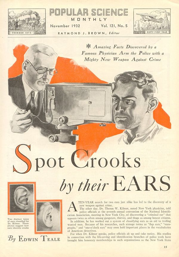 Popular Science: Spot Crooks by their Ears!