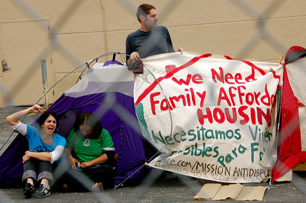 Activists for affordable housing