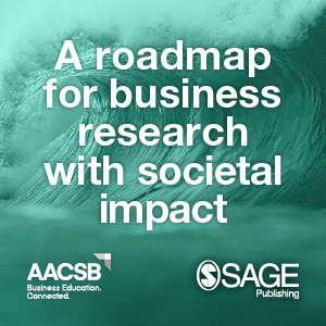 Graphic reads 'A roadmap for business research with societal impact'