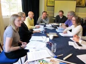 Academics around table
