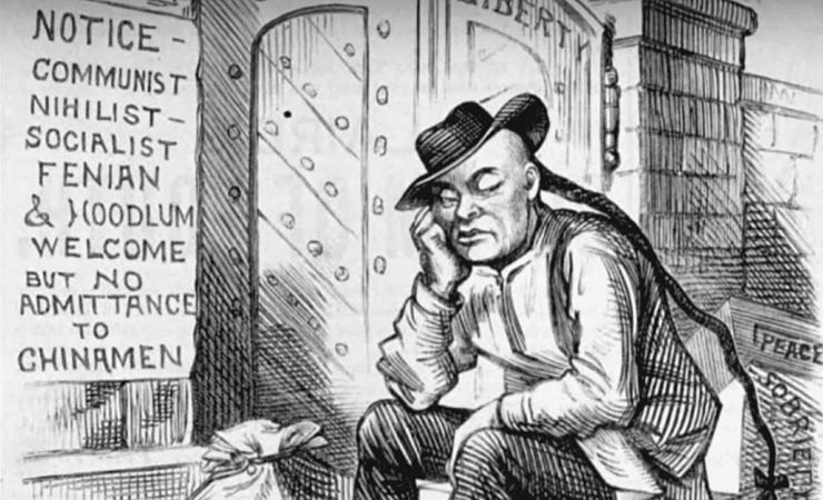 1882 cartoon showing anti-asian law