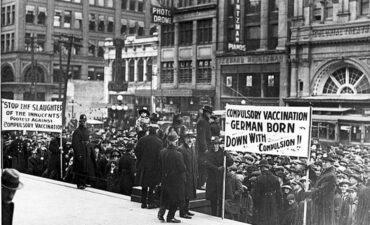Anti-vaccination protest in 1919