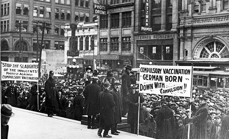 Anti-vaccination protest in 1919