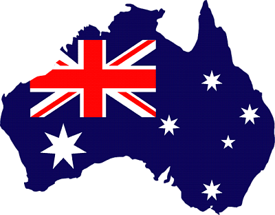 Australia flag outline
