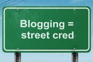 Pro-blogging street sign
