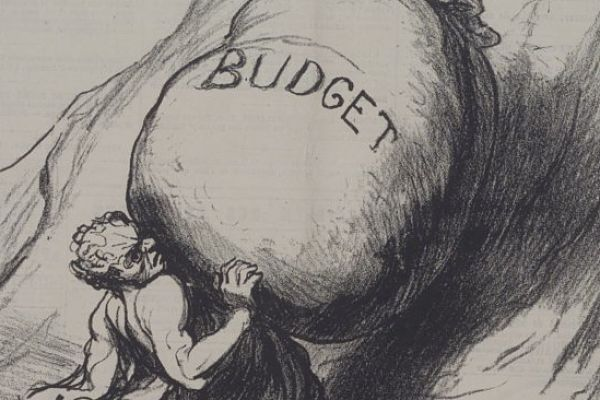 Getting funding for social science isn't supposed to be task for Sisyphus. (Image: Detail from 1869 cartoon by Honoré Daumier)