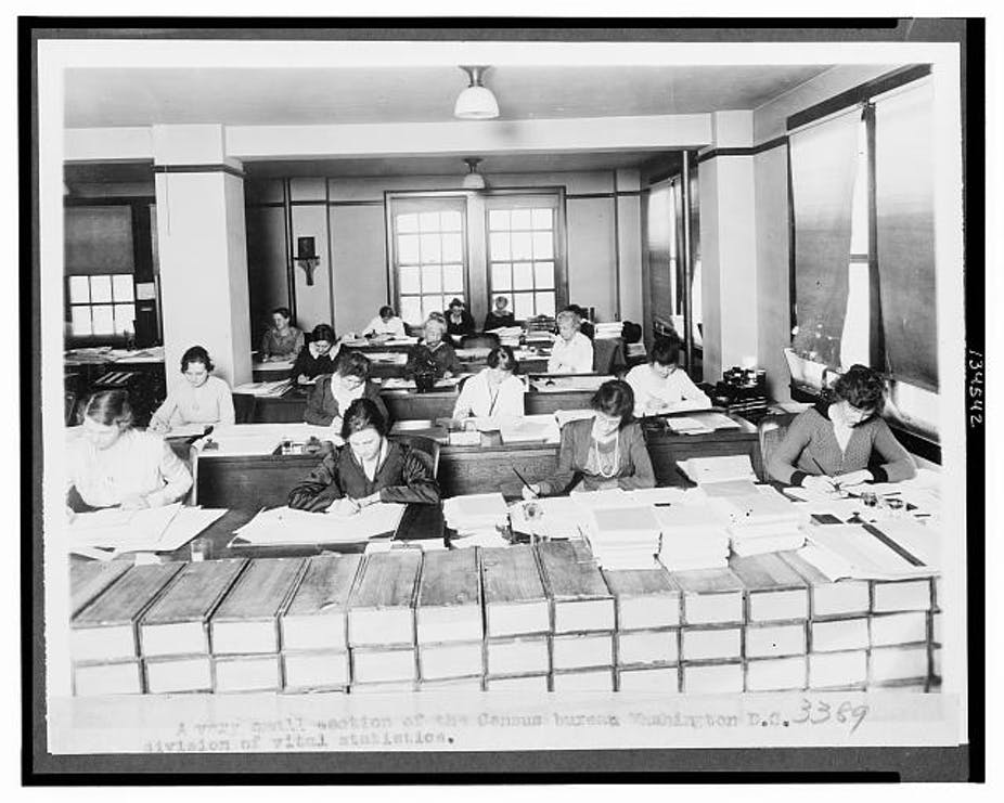 Census workers in early 1900s