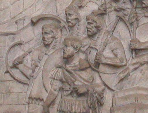 Military scene on Trajan's Column