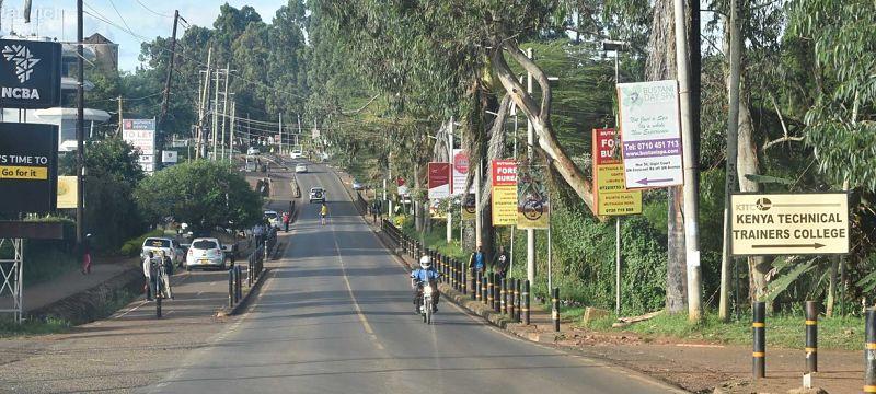 Deserted street in Nairobi