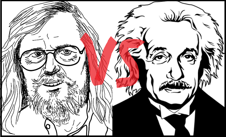 Didier Raoult and Albert Einstein