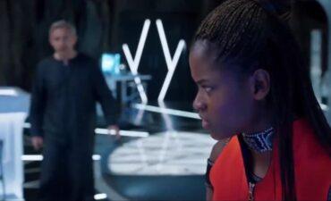 Shuri and Everett Ross in Wakanda lab
