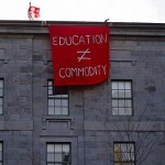 education is not commodity sign
