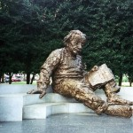 Einstein statue outside the NAS