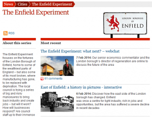 Enfield Experiment coverage in The Guardian