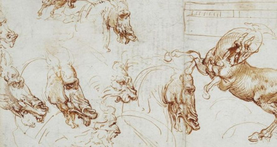 Expressions of fury in horses, lions and a man