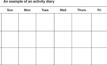 Activity diary exampl