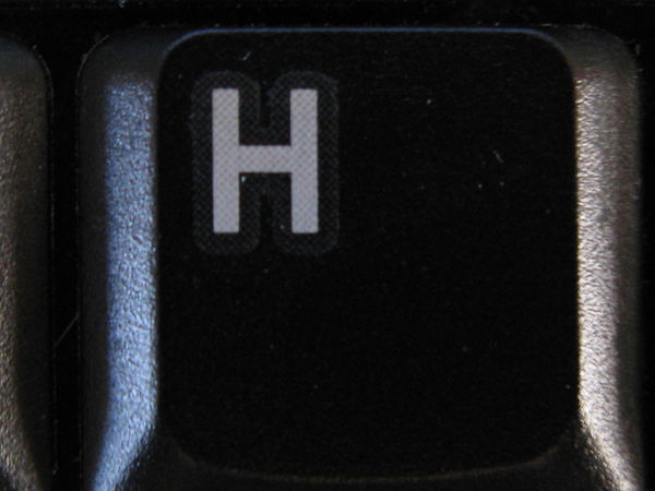 H on keyboard
