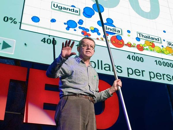 Hans Rosling in a 2009 TED talk.