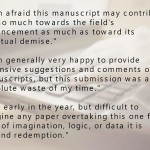 Harsh peer review quotes