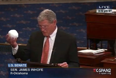 Senator Inhofe and his snowball