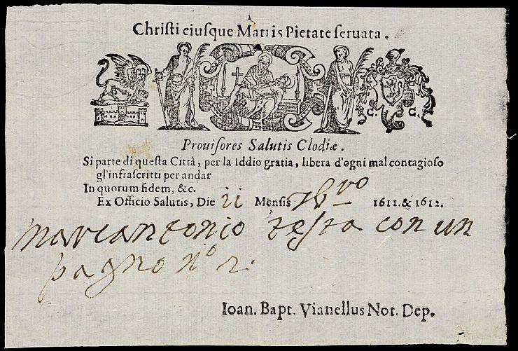 Italian_health_pass from 1722