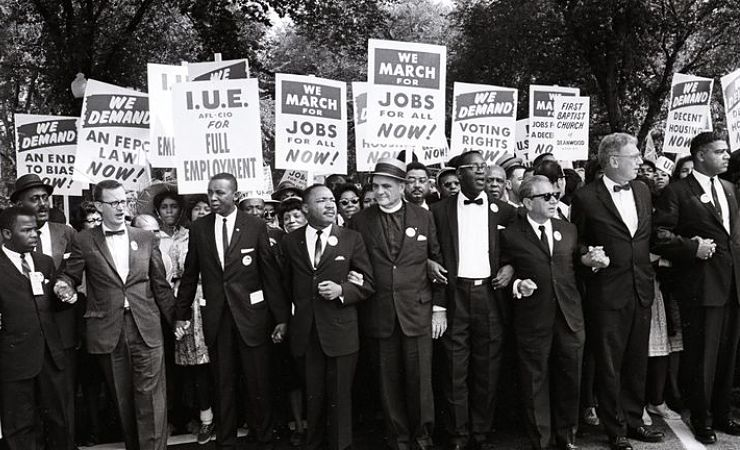 John Lewis and Martin Luther king in 1963 march