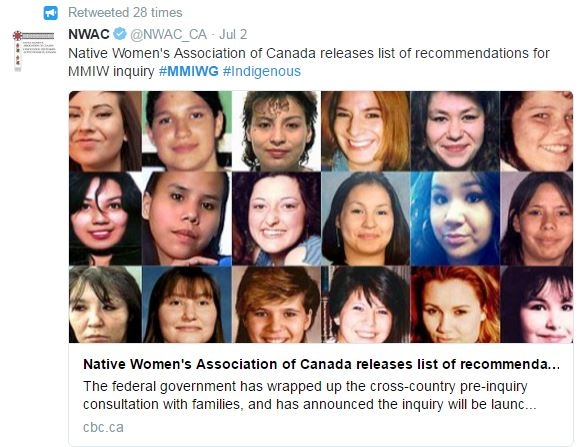 #MMIW sample tweet