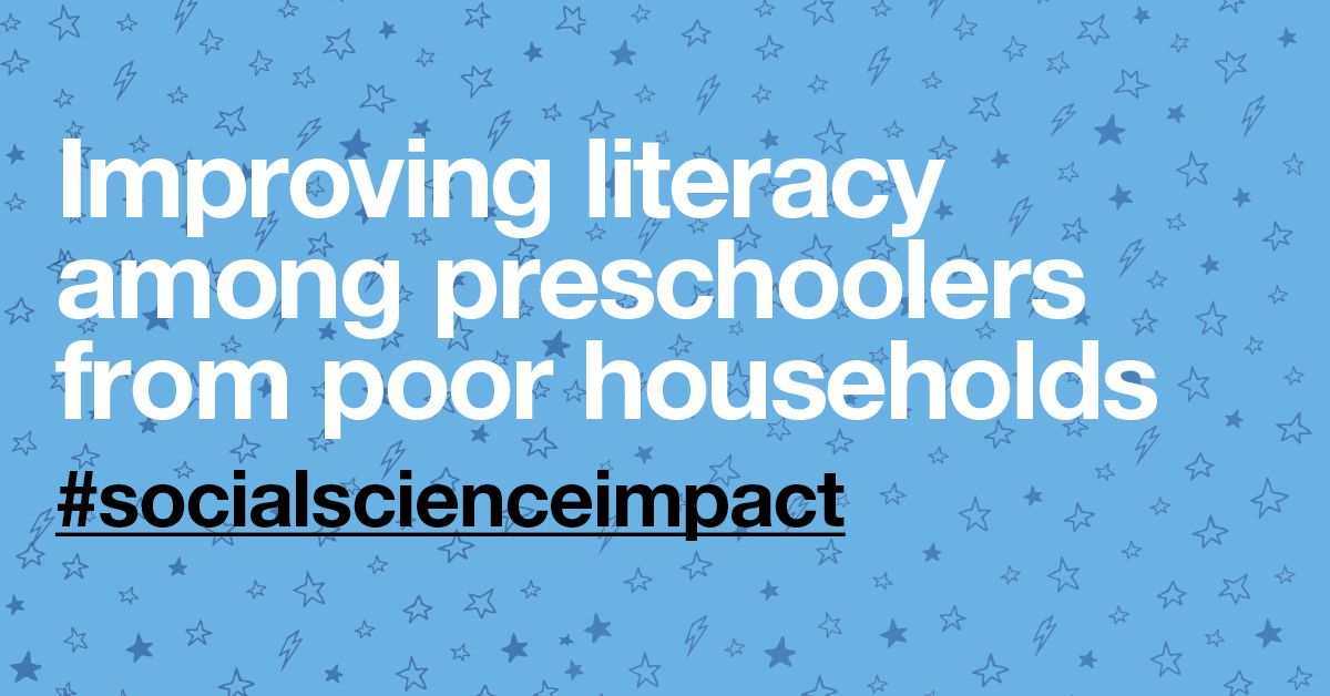 Preschool literacy impact graphic