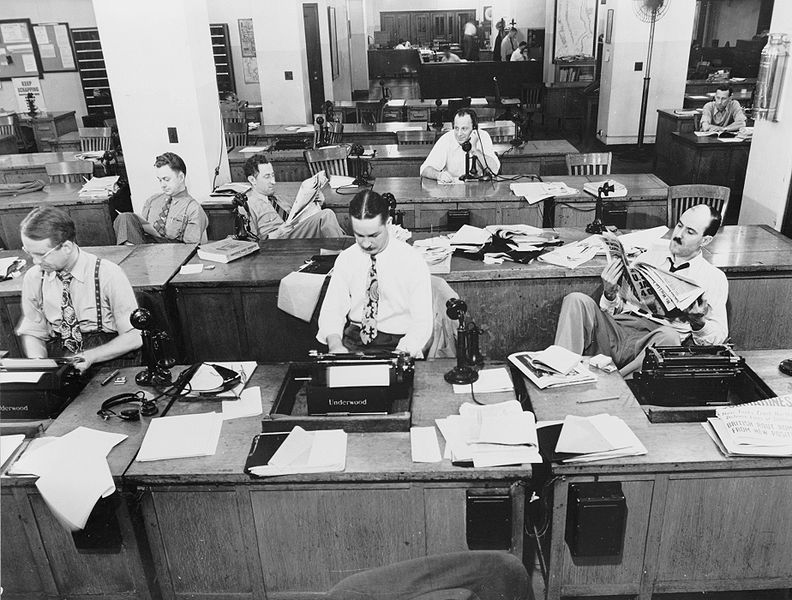 Newsroom from 1940s