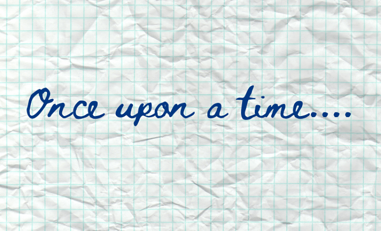 Once upon a time written on graph paper