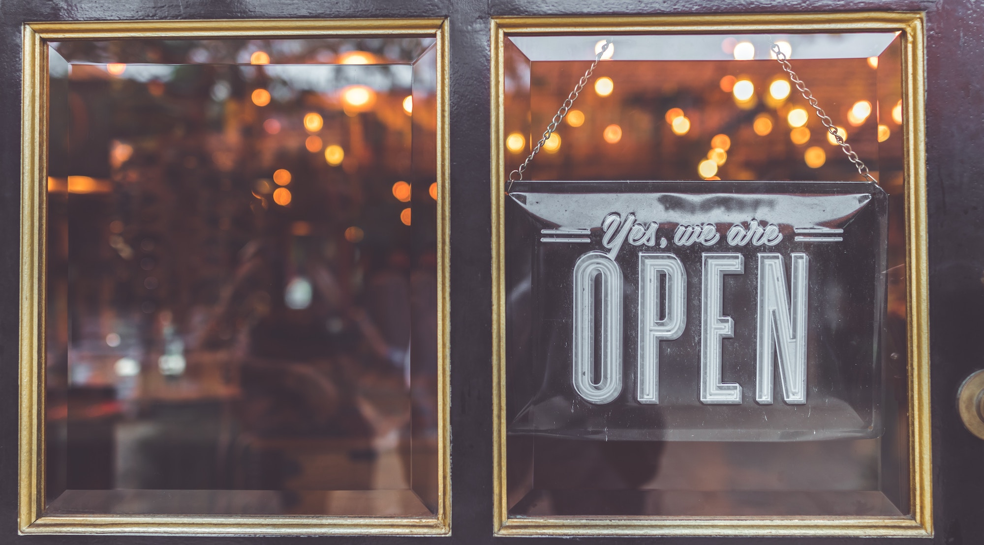 restaurant 'open' sign