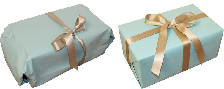 Pair of wrapped gifts