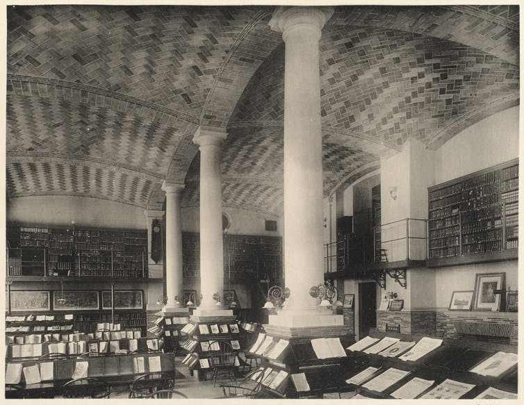 Old fashioned periodicals room