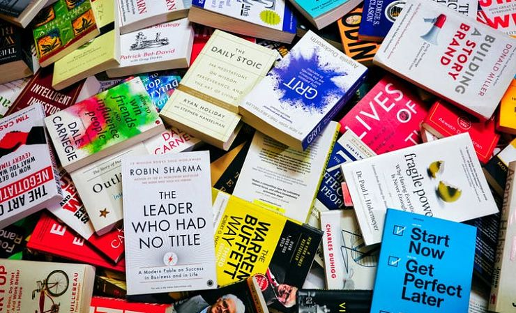 pile of pop psychology paperbacks