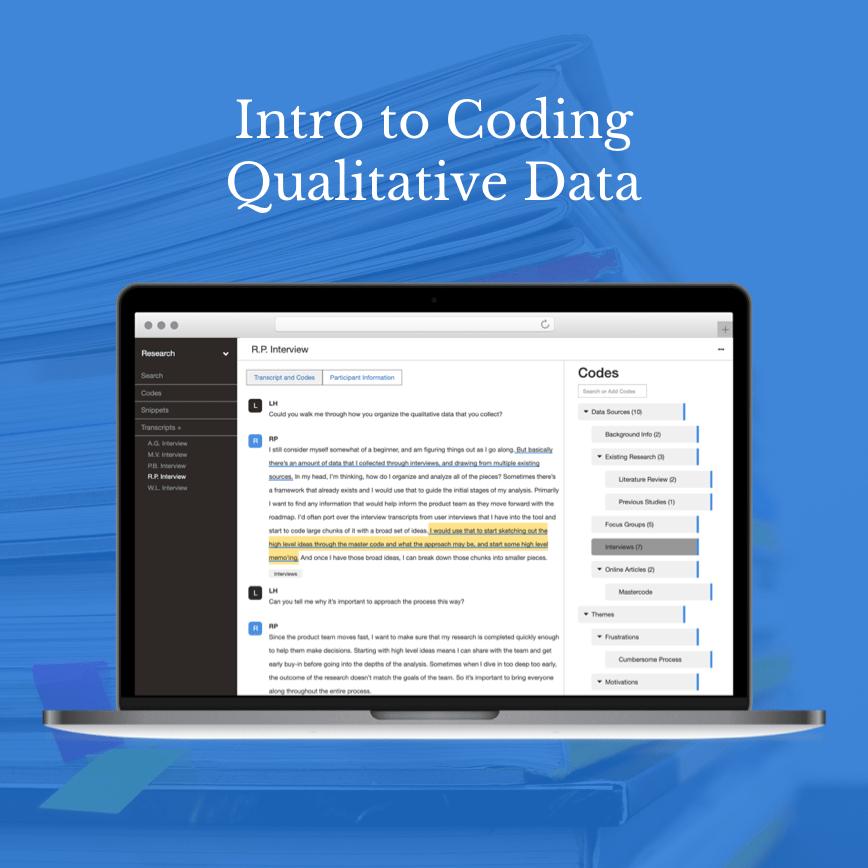 Intro to qualitative Coding graphic
