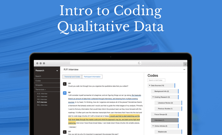 Intro to qualitative coding graphic